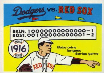 1970 Fleer World Series 013      1916 Red Sox/Dodgers#{(Babe Ruth)