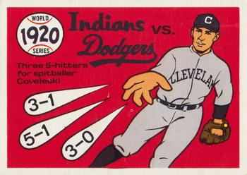 1970 Fleer World Series 017      1920 Indians/Dodgers#{(Stan Coveleski)