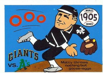 1970 Fleer World Series 002       1905 Giants/As#{(Christy Mathewson)
