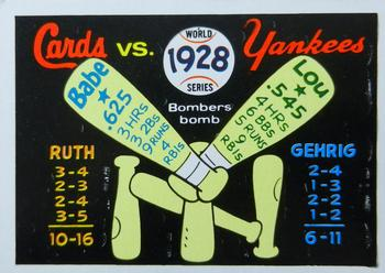 1970 Fleer World Series 025      1928 Yankees/Cardinals#{(Babe Ruth#{and Lou Gehrig