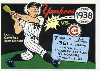 1970 Fleer World Series 035      1938 Yankees/Cubs#{(Lou Gehrig)