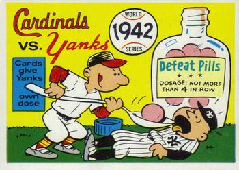 1970 Fleer World Series 039      1942 Cardinals/Yankees