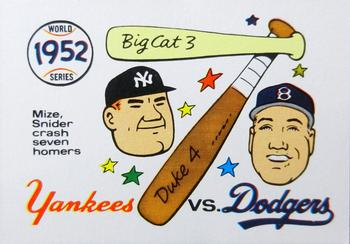 1970 Fleer World Series 049      1952 Yankees/Dodgers#{(Johnny Mize#{and Duke Snider