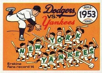 1970 Fleer World Series 050      1953 Yankees/Dodgers#{(Carl Erskine)