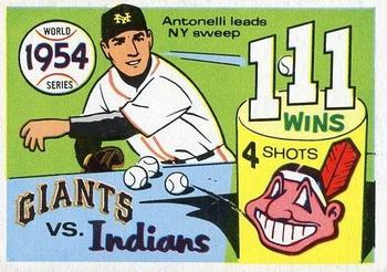 1970 Fleer World Series 051      1954 Giants/Indians#{(Johnny Antonelli)