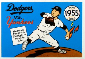 1970 Fleer World Series 052      1955 Dodgers/Yankees#{(Johnny Podres)