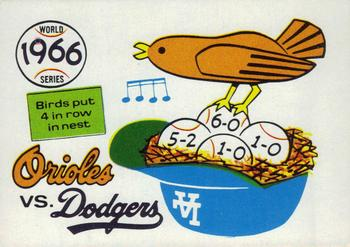 1970 Fleer World Series 063      1966 Orioles/Dodgers