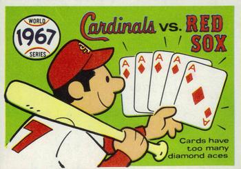 1970 Fleer World Series 064      1967 Cardinals/Red Sox