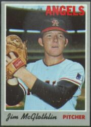 1970 Topps Baseball Cards      132     Jim McGlothlin