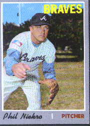 1970 Topps Baseball Cards      160     Phil Niekro