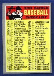 1970 Topps Baseball Cards      244B    Checklist 3 Brown bat on Front