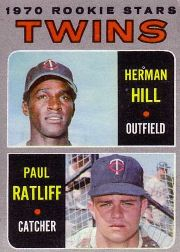 1970 Topps Baseball Cards      267     Rookie Stars-Herman Hill RC-Paul Ratliff