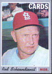 1970 Topps Baseball Cards      346     Red Schoendienst MG