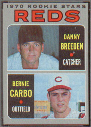 1970 Topps Baseball Cards      036      Rookie Stars-Danny Breeden-Bernie Carbo RC