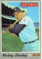1970 Topps Baseball Cards      383     Mickey Stanley