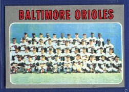 1970 Topps Baseball Cards      387     Baltimore Orioles TC
