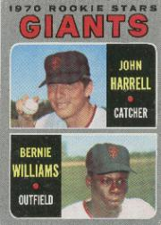 1970 Topps Baseball Cards      401     Rookie Stars-John Harrell RC-Bernie Williams RC