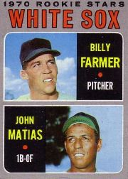 1970 Topps Baseball Cards      444     Rookie Stars-Billy Farmer RC-John Matias RC