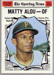 1970 Topps Baseball Cards      460     Matty Alou AS