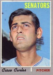 1970 Topps Baseball Cards      487     Cisco Carlos