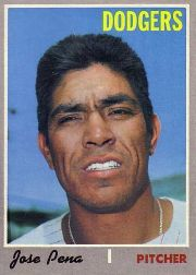 1970 Topps Baseball Cards      523     Jose Pena