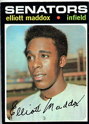 1971 Topps Baseball Cards      011      Elliott Maddox RC