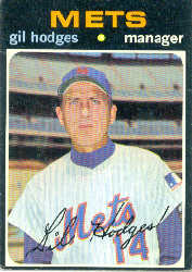 1971 Topps Baseball Cards      183     Gil Hodges MG
