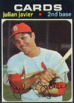 1971 Topps Baseball Cards      185     Julian Javier