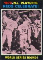 1971 Topps Baseball Cards      202     Reds Celebrate NLCS