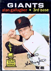 1971 Topps Baseball Cards      224     Alan Gallagher RC