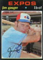 1971 Topps Baseball Cards      284     Jim Gosger