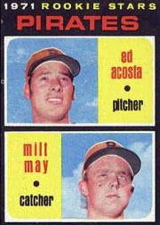 1971 Topps Baseball Cards      343     Ed Acosta RC/Milt May RC