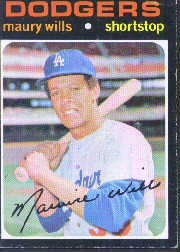 1971 Topps Baseball Cards      385     Maury Wills