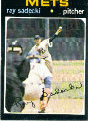1971 Topps Baseball Cards      406     Ray Sadecki
