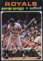 1971 Topps Baseball Cards      411     George Spriggs