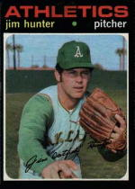1971 Topps Baseball Cards      045      Jim Hunter