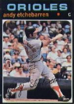 1971 Topps Baseball Cards      501     Andy Etchebarren