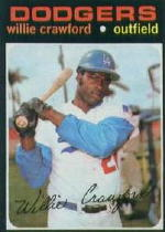 1971 Topps Baseball Cards      519     Willie Crawford
