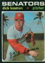 1971 Topps Baseball Cards      060      Dick Bosman