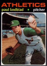 1971 Topps Baseball Cards      658     Paul Lindblad SP
