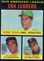 1971 Topps Baseball Cards      067      Diego Segui/Jim Palmer/Clyde Wright LL