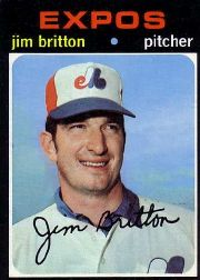 1971 Topps Baseball Cards      699     Jim Britton