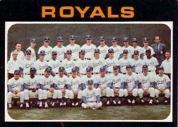 1971 Topps Baseball Cards      742     Kansas City Royals TC