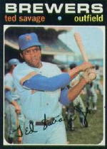 1971 Topps Baseball Cards      076      Ted Savage