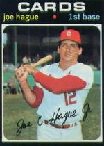 1971 Topps Baseball Cards      096      Joe Hague