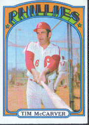 1972 Topps Baseball Cards      139     Tim McCarver
