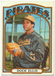 1972 Topps Baseball Cards      179     Dock Ellis
