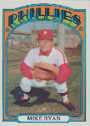 1972 Topps Baseball Cards      324     Mike Ryan