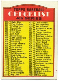 1972 Topps Baseball Cards      378     Checklist 395-525