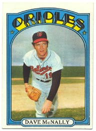 1972 Topps Baseball Cards      490     Dave McNally